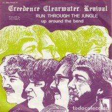 Discos de vinilo: CREEDENCE CLEARWATER REVIVAL - RUN THROUGH THE JUNGLE - SINGLE DE VINILO EDICION BELGA. Lote 155975054
