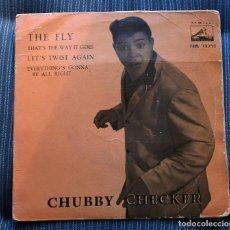 Discos de vinilo: FUNDA VACIA CHUBBY CHECKER. Lote 155975518