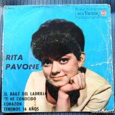 Discos de vinilo: FUNDA VACIA RITA PAVONE. Lote 155975638