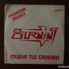 Discos de vinilo: BURNING – MUEVE TUS CADERAS SELLO: OCRE – 10.038 FORMATO: VINYL, 7 , SINGLE, PROMO PAÍS: SPAIN . Lote 155975786