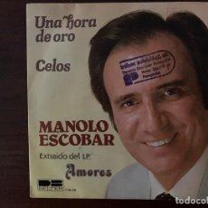 Discos de vinilo: MANOLO ESCOBAR – UNA HORA DE ORO / CELOS SELLO: DB BELTER – 1-10.116 FORMATO: VINYL, 7 , 45 RPM. Lote 155976054