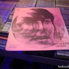 Discos de vinilo: FABRIZIO DE ANDRÉ – CANZONI SELLO: PRODUTTORI ASSOCIATI – PA/LP 52 . Lote 155977114