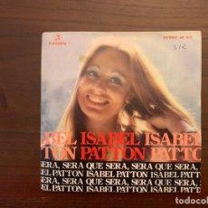 Discos de vinilo: ISABEL PATTON – QUE SERA SERA / LLEVAME CONTIGO SELLO: COLUMBIA – MO 1639 FORMATO: VINYL, 7 . Lote 155977222