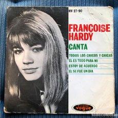 Discos de vinilo: FUNDA VACIA FRANÇOISE HARDY. Lote 155977302