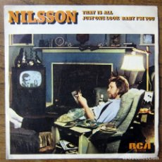 Discos de vinilo: NILSSON - THAT IS ALL / JUST ONE LOOK, BABY I'M YOURS - 1976 - BEATLES, GEORGE HARRISON, PROMOCIONAL. Lote 155982698