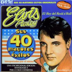 Discos de vinilo: VINILO, ÁLBUM DOBLE ELVIS PRESLEY. 1977. Lote 155983954
