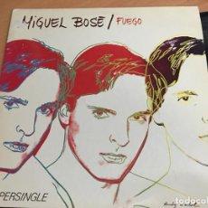 Discos de vinilo: MIGUEL BOSE (FUEGO) MAXI ESPAÑA 1983 ANDY WARHOL (VIN-B0). Lote 155993582