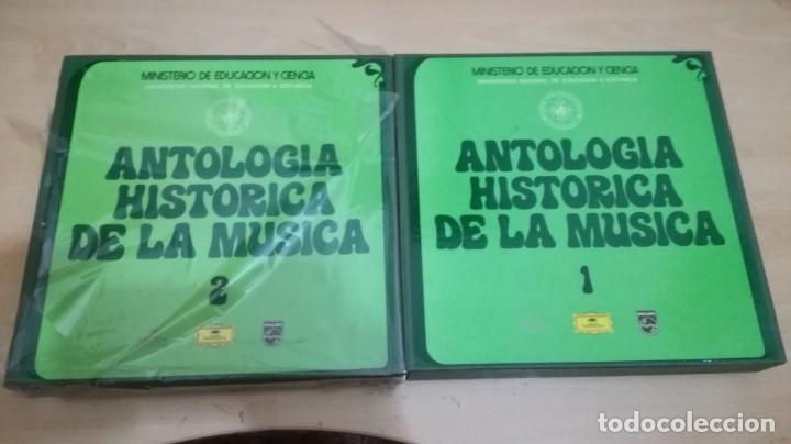 ANTOLOGIA HISTORICA DE LA MÚSICA - MINISTERIO DE EDUCACIÓN Y CIENCIA - 2 DISCOS EN 2 CAJAS DE 10 - (Música - Discos - LP Vinilo - Clásica, Ópera, Zarzuela y Marchas)