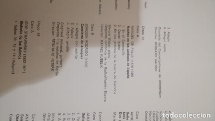 Discos de vinilo: antologia historica de la música - Ministerio de Educación y Ciencia - 2 discos en 2 cajas de 10 - - Foto 21 - 155998454