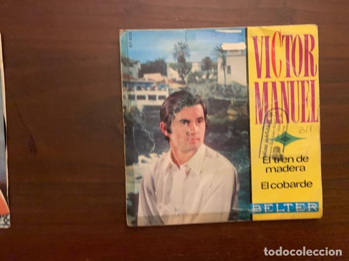 Discos de vinilo: Víctor Manuel ?– El Tren De Madera / El Cobarde Sello: Belter ?– 07-450 Formato: Vinyl, 7 , 45 RPM - Foto 2 - 156001746