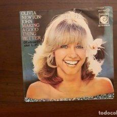 Discos de vinilo: OLIVIA NEWTON-JOHN – MAKING A GOOD THING BETTER SELLO: NOVOLA – OOX-350 FORMATO: VINYL, 7 . Lote 156002734