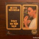 Discos de vinilo: BETTY MISSIEGO – TENER UN HIJO TUYO SELLO: COLUMBIA – MO 1712 FORMATO: VINYL, 7 , 45 RPM, SINGLE . Lote 156007474