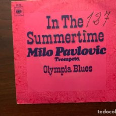 Discos de vinilo: MILO PAVLOVIC ?– IN THE SUMMERTIME SELLO: CBS ?– 5090 FORMATO: VINYL, 7 , 45 RPM, SINGLE. Lote 156008550