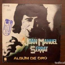 Discos de vinilo: JOAN MANUEL SERRAT – ALBUM DE ORO SELLO: ZAFIRO – EP-002 FORMATO: VINYL, 7 , EP PAÍS: SPAIN . Lote 156008598