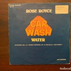 Discos de vinilo: ROSE ROYCE ?– CAR WASH SELLO: MCA RECORDS ?– 60 30 501 FORMATO: VINYL, 7 , SINGLE PAÍS: SPAIN . Lote 156009550