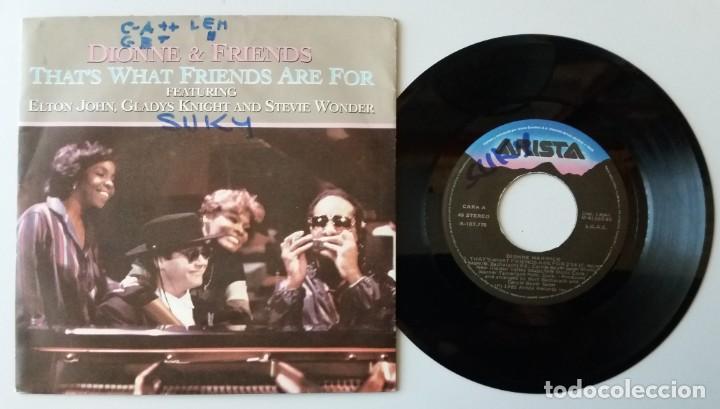 DIONNE WARWICK & FRIENDS / THAT'S WHAT FRIENDS ARE FOR / SINGLE 7 INCH (Música - Discos - Singles Vinilo - Pop - Rock - Extranjero de los 70)