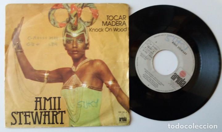 AMII STEWART / TOCAR MADERA / SINGLE 7 INCH (Música - Discos - Singles Vinilo - Pop - Rock - Extranjero de los 70)