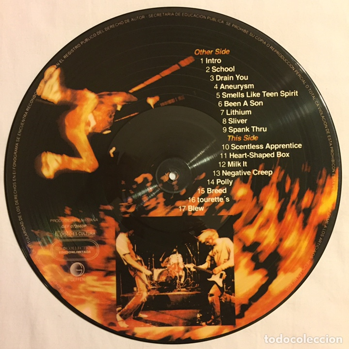 Discos de vinilo: NIRVANA - FROM THE MUDDY BANKS OF THE WISHKAH, PICTURE DISC, ED. LIMITADA, NO-OFICIAL, MÉXICO - Foto 2 - 156012749