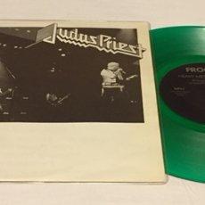 "Discos de vinilo: JUDAS PRIEST - LIVE ROCKPOP IN CONCERT LP, 10"", NO-OFICIAL, VERDE TRANSLÚCIDO, ITALIA, PRIMICIA TC!!. Lote 156013108"