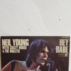 Discos de vinilo: NEIL YOUNG, HEY BABE. Lote 156013958