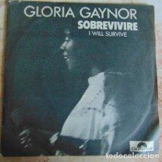 Discos de vinilo: GLORIA GAYNOR – I WILL SURVIVE - SINGLE 1979. Lote 156026018
