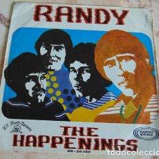 Discos de vinilo: THE HAPPENINGS – RANDY - SINGLE 1968. Lote 156026550
