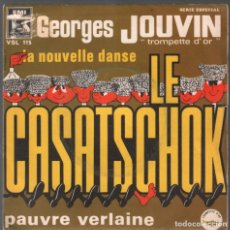 Discos de vinilo: GEORGES JOUVIN TROMPETTE D' OR LA NOUVELLE DANSE LE CASATSCHOK PAUVRE VERLAINE...SINGLE RF-3757. Lote 156037462