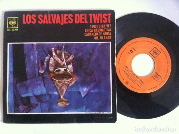 LOS SALVAJES DEL TWIST - TWIST OTRA VEZ - EP 1963 - CBS (Música - Discos de Vinilo - EPs - Rock & Roll)