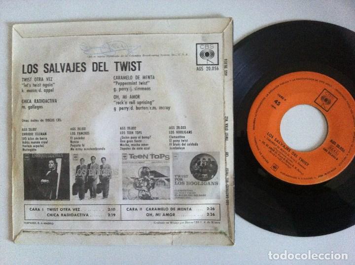 Discos de vinilo: LOS SALVAJES DEL TWIST - twist otra vez - EP 1963 - CBS - Foto 2 - 156041442