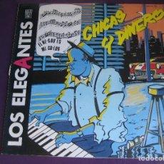 Discos de vinilo: LOS ELEGANTES MAXI SINGLE ZAFIRO 1985 CHICAS Y DINERO - MOD BEAT - MOVIDA MADRILEÑA - . Lote 156042326