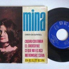 Discos de vinilo: MINA - CANTA EN ESPAÑOL CIUDAD SOLITARIA - EP 1964 - BELTER. Lote 156047774