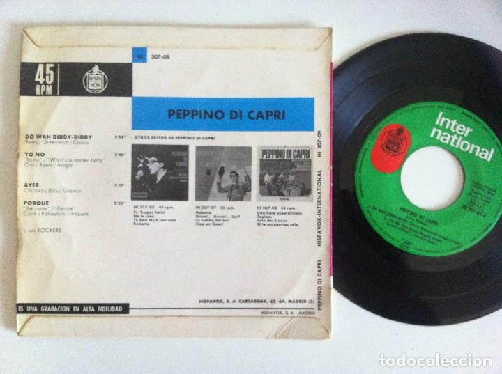 Discos de vinilo: PEPPINO DI CAPRI Y SUS ROCKERS - do wah diddy diddy - EP 1964 - INTERNATIONAL - Foto 2 - 156049570