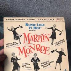 Discos de vinilo: MARILYN MONROE - SOME LIKE IT HOT BSO 7 VINILO. Lote 156051694