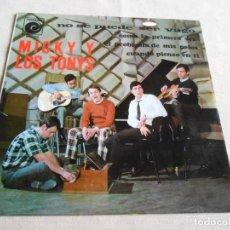 Discos de vinilo: MICKY Y LOS TONYS - CODO CON CODO -, EP, NO SE PUEDE SER VAGO + 3, AÑO 1967. Lote 156097346