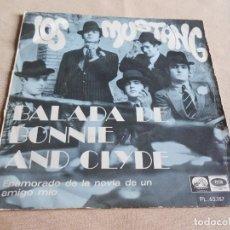 Discos de vinilo: MUSTANG, SG, BALADA DE BONNIE AND CLYDE + 1, AÑO 1968. Lote 156107354