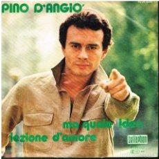 Disques de vinyle: PINO D'ANGIÓ - MA QUALE IDEA / LEZIONE D'AMORE - SINGLE 1980 - ED. ALEMANIA. Lote 156112130