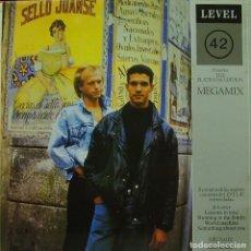 Discos de vinilo: LEVEL 42 - THE PLATINUM EDITION MEGAMIX MAXI SINGLE SPAIN 1987. Lote 156155914