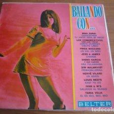 Discos de vinilo: VVAA - BAILANDO CON... ********* RARO LP BELTER PORTADA PSICODÉLICA TANIA VELIA 1969. Lote 156167822
