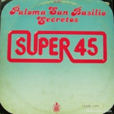 Discos de vinilo: PALOMA SAN BASILIO - SECRETOS MAXI SINGLE SPAIN 1987. Lote 156176402