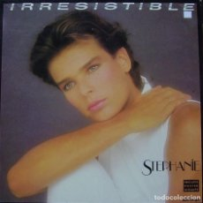 Discos de vinilo: STEPHANIE - IRRESISTIBLE MAXI SINGLE SPAIN 1986 NO INCLUYE POSTER . Lote 156177454