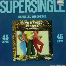 Discos de vinilo: PINO D'ANGIO - QUE IDEA MA QUALE IDEA MAXI SINGLE RARO SPAIN 1981. Lote 156177906