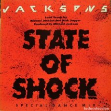 Discos de vinilo: THE JACKSONS - STATE OF SHOCK MAXI SINGLE PROMO 1984. Lote 156178490