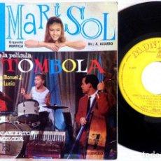 Discos de vinilo: MARISOL - CANCIONES DE LA PELÍCULA - TÓMBOLA - EP 1962 - MONTILLA. Lote 156179454