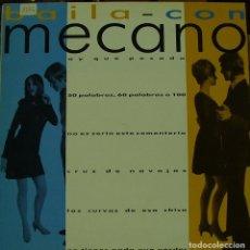 Discos de vinilo: MECANO - BAILA CON MECANO MAXI SINGLE RARO PROMO 1986. Lote 156180930