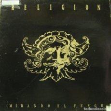 Discos de vinilo: RELIGION - MIRANDO EL FUEGO MAXI SINGLE SPAIN 1987. Lote 156180962