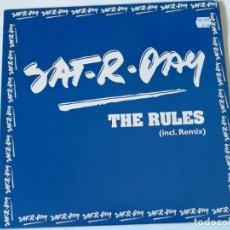 Discos de vinilo: SAT-R-DAY - THE RULES - 2003. Lote 156184290