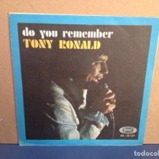 Discos de vinilo: TONY RONALD - DO YOU REMEMBER / IF YOU EVER... / ¡¡OCASIÓN!! SINGLE VINILO NUEVO SIN USAR . Lote 156191178