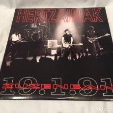 Discos de vinilo: HERTZAINAK -ZUZENEAN 19.1.91- (1991) 2 X LP DISCO VINILO. Lote 156207126
