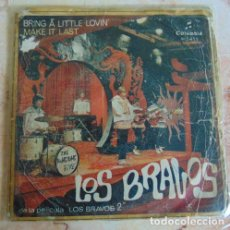 Discos de vinilo: LOS BRAVOS - BRING A LITTLE LOVIN - SINGLE 1967. Lote 156207346