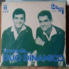 Discos de vinilo: *** DUO DINAMICO - LA VOZ DE... DUO DINAMICO VOL.II - DOBLE LP AÑO 1978 - LEER DESCRIPCIÓN. Lote 156253302